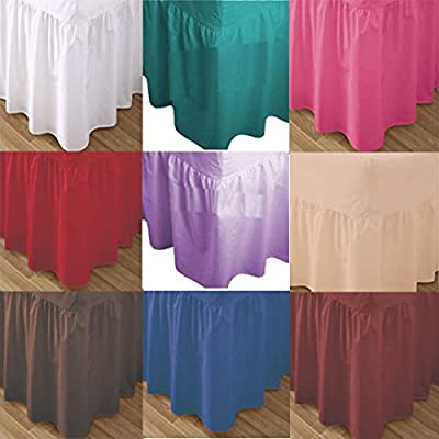 *(wish.list)* Luxury Plain Dyed Polycotton Fitted Valance Sheet - Soft Fabric