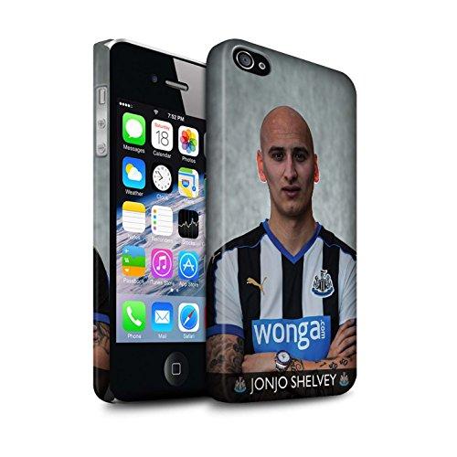 Offiziell Newcastle United FC Hülle / Matte Snap-On Case für Apple iPhone 4/4S / Saivet Muster / NUFC Fussballspieler 15/16 Kollektion Shelvey