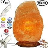 Magic salt Lampada di sale dell'Himalaya salgemma di cristallo salgemma di cristallo Himalayan salt Lamp (Natural 3-5 kg)