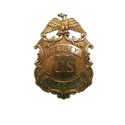 Sheriffstern US-Deputy Marshal Adler messingfarbend (Sheriff Deputy Kostüm)