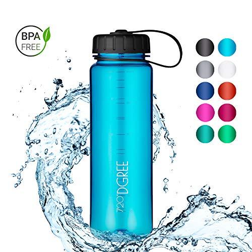 720°DGREE Trinkflasche simplBottle - 0,5l, 500ml, Blau   Wasserflasche aus Tritan   Auslaufsichere Flasche mit Weithals für Kinder, Sport, Gym, Outdoor   Perfekte Sportflasche - BPA Frei