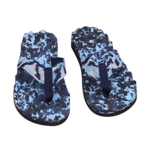 Herren Flip-Flops, SHOBDW Männer Sommer Camouflage Flip Flops Schuhe Sandalen Slipper indoor & outdoor Flip-Flops Blau