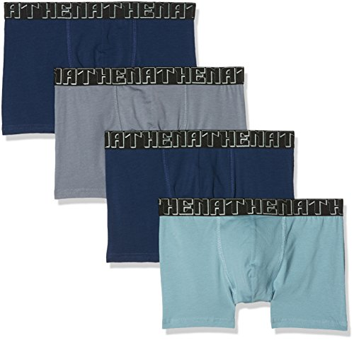 Athena Herren Badehose Easy Chic, 4er Pack Bleu (Marine/Bleu/Gris/Marine 0710)