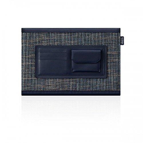 SLG Design D5Kalb Haut Edition aus Leder für MacBook Pro Retina 38,1cm Marineblau (Kalb-leder-satchel-tasche)