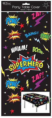 Home Collection 1 länglich Plastik Kinder Party Tischdecke Tischtuch 120x180 Jungen Superheld