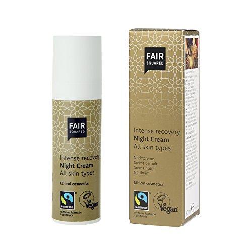 Fair Squared Night Cream Argan Intense recovery, natürliche, beruhigende, Gesichtspflege für die...
