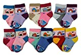 Camey baby socks home design pack of 12 multi color ( 6-12 months) Amazon
