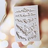 Vivin Zuckermasse gemeißelte Blumen Retro Totem-Kuchen-Form-Silikon-Entwurfs-Matte für Kuchen, kleine Kuchen Sugar Süßigkeiten Perlen Fondant Paste Bead