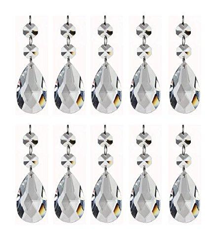 Anhänger Türvorhang Träne Tropfen Kronleuchter Kristall Glas Perlen Partei Dekor Hochzeit DIY Dekor Perlenvorhang 10 Stück