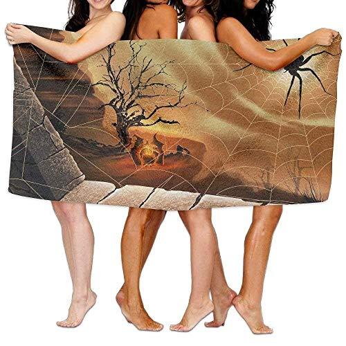 ewtretr Spider Web Witch Luxury Bath Towel Hotel Spa Extra-Towel 31.5 X 51.2 for Beach Bath Lightweight for Beach Gym Yoga