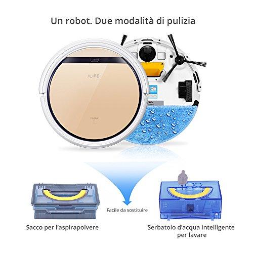 ILIFE V5s Pro Robot Aspiradora con tanque de agua, Robot de limpieza para suelos barrer y fregar automáticamente