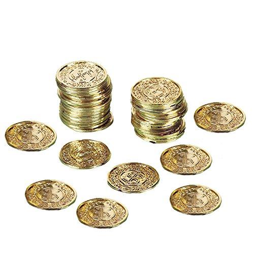 NEU Goldmünzen, 72 Stück (Der Karibik Kinder Piraten Kostüme)