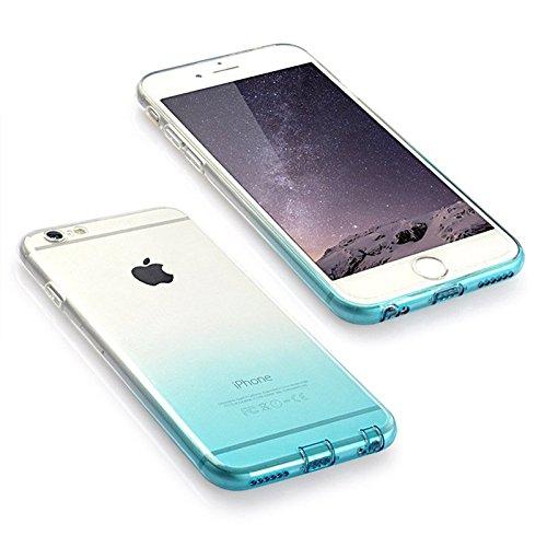 """Koala Group™iPhone 6 / 6S(4.7"""") Case, einfache weiche dünne Schutz dünne TPU weiche Steigung war dünn transluzenten Gehäuse Kommt mit Staubkappe (iphone 6/6s, white+pink) white+green"""