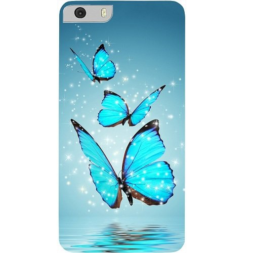 Casotec Flying Butterflies Design Hard Back Case Cover for Micromax Canvas Knight 2 E471