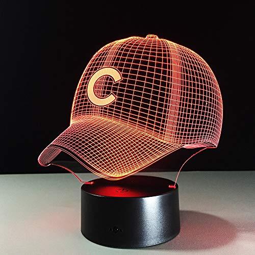 3D Nachtlicht Baseball Team Cap 3D Licht Hip Hop Hut Nachtlicht Led Tischlampe Kinder Schlaf Licht Lampe Sport Fans Beste Geschenk (Besten Baseball-filme)