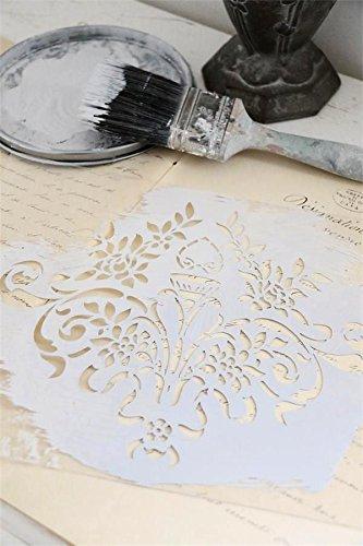 Jeanne d' Arc Living Schablone Stencil Template -Flower- Vintage Landhaus Shabby French Nostalgie