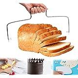 ilauke Coupe-Gâteau à Fils Diviseur Réglableen en Acier Iinoxydable + 3 Racloir Pâtisserie Cake Slicer
