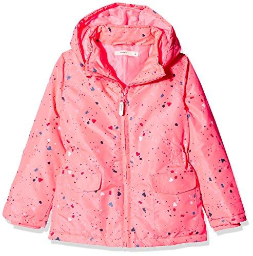 NAME IT Mädchen Jacke NMFMELLO Jacket Confetti, Mehrfarbig Neon Salmon Rose, 110