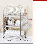 Panier à vaisselle en acier inoxydable/Porte-vaisselle/Étagères de cuisine-E