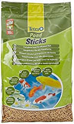 Tetra Pond Sticks, Complete Food For All Pond Fish For Health, Vitality & Clear Water, 15 Litre
