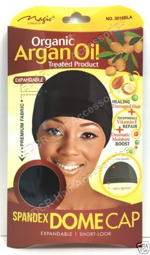 Magic Coll - Organic Argan Oil Treated Spandex Dome Cap With Wide Elastic #3016B by Magic Collection