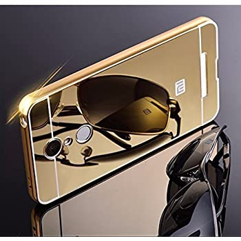 REDMI NOTE 3 CASE AEMA (TM) Luxury Metal Bumper + Acrylic Mirror Back Cover Case For XIAOMI REDMI NOTE 3 GOLD