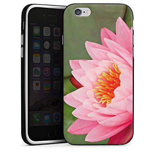 Apple iPhone 6 Housse Étui Silicone Coque Protection Nénuphar Fleur Fleur Housse en silicone noir / blanc