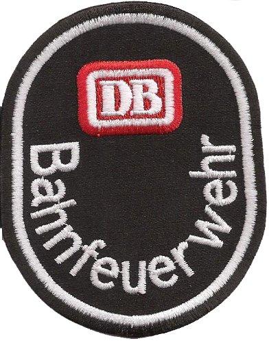 Feuerwehr DB Bahnfeuerwehr Deutsche Bundesbahn Uniform Abzeichen Aufnäher