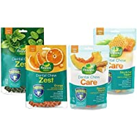 Happi Doggy Gluten-Free Dog Treats Combo Mint, for Complete Dental Care with Omega 3 and 6 for Digestive Healthy Skin…