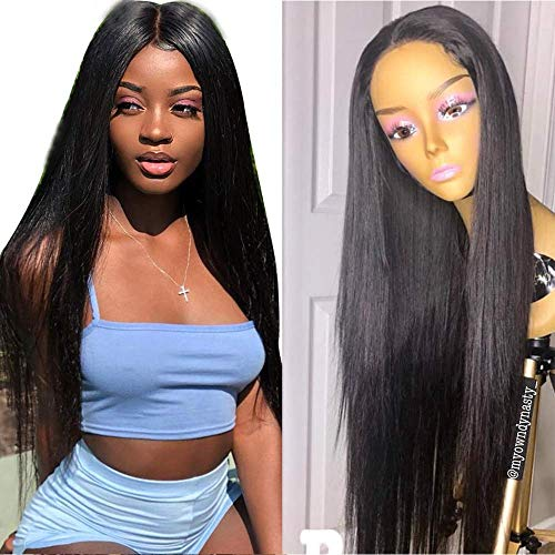 9A Human Hair Wigs for Black Women 180% Density Lace Front Wigs Brazilian Silky Straight Wave Front Lace Dace NACE Front Human Hair Wigs with Baby Hair,20INCH -