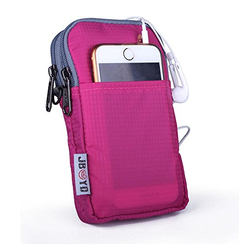 BUSL Wandern Hüfttaschen Outdoor-Freizeit-Handy-Paket Multifunktionstaschen Vertikalschnitt Männer Schulter Messenger Bag Damentasche a