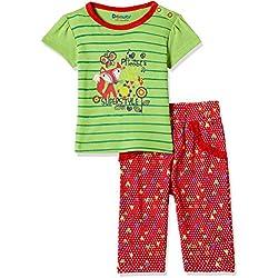 Donuts Baby Girls' Pyjama Bottom (268864168_RED_12M_IN-30)