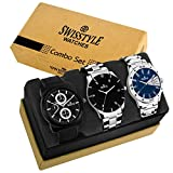 #9: Swisstyle Analog Combo Watch for Men-SS-3CMB-10