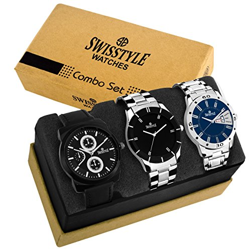 Swisstyle Analog Combo Watch for Men-SS-3CMB-10