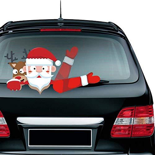LARRY SHELL Hinterer Wischer Aufkleber Aufkleber Santa Aufkleber Cartoon winkt Scheibenwischer Applique Wischer Aufkleber Heckfenster Fenster Aufkleber und Applikation Weihnachtsdekoration