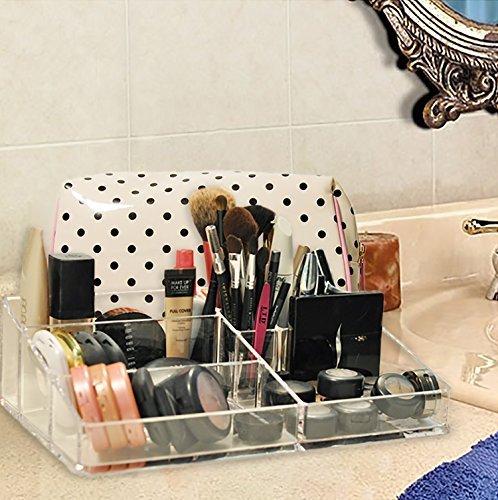Decor Hütte klar Acryl Make-up-Organizer, ideal für angeboten und Pinsel, der alles organisiert und sauber hält, zur Hand,, leicht zu reinigen