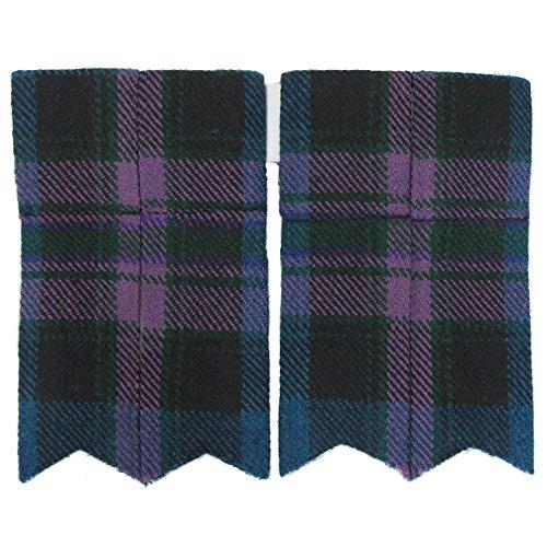 Tartanista - Herren Kilt-Strumpfhalter - einfarbig oder Tartanmuster - Honour of Scotland -