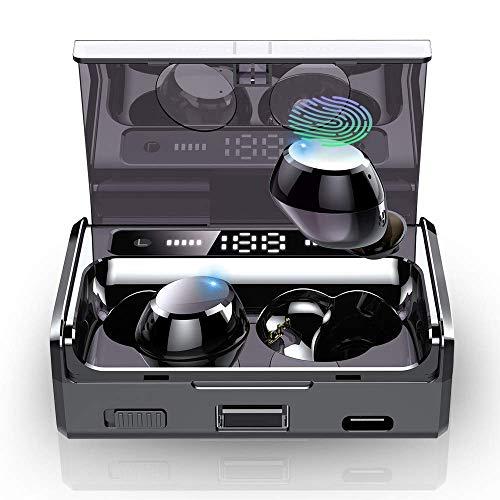 【2019 Neuestes】 Bluetooth Kopfhörer, IPX7 Wasserdicht Bluetooth Kopfhörer in Ear Sport Kopfhörer Kabellos Kopfhörer mit Mikrofon/160H Playtime 3500mAh Ladekoffer mit Taschenlampe/Touch-Control