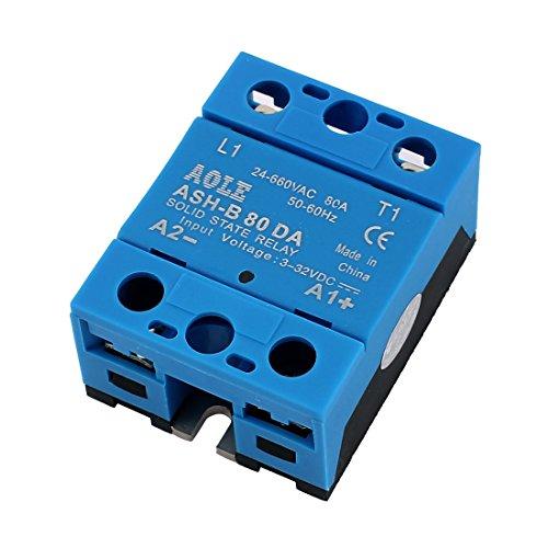 sourcingmap® ASH-B80DA 3-32VDC zu 660VAC 80A Einzel Phase Solid State DC zu AC Relais DE de -