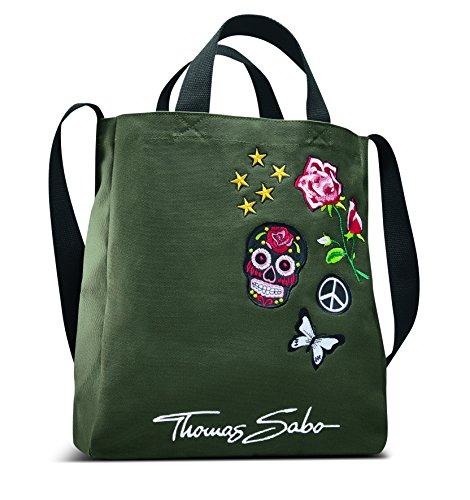 Thomas Sabo MKT1628 Shopper Einkaufstasche, grün