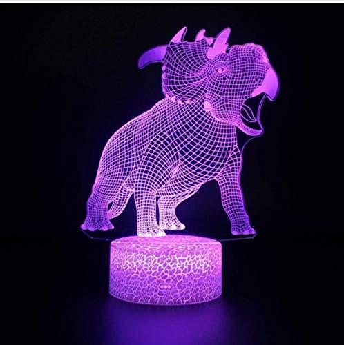 Nachtlicht Argentine Dragon 3D Wohnzimmer Tischlampe Niedlichen Cartoon Kinder Spielzeug Tisch Moderne Schreibtischlampe Beleuchtung Tischlampe, B
