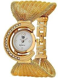 98749accd299 Swadesi Stuff Golden Women s   Girl s Analogue White Dial Wrist Watch