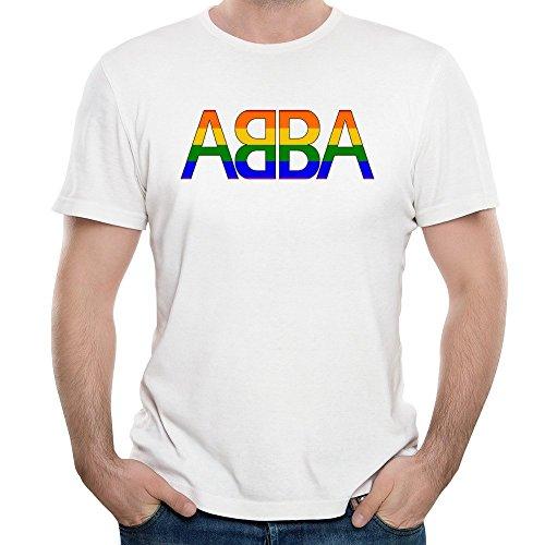 ABBA Rainbow Logo Gay Pride T-shirt for Men, M, XL