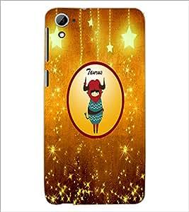 PrintDhaba Zodiac Taurus D-3742 Back Case Cover for HTC DESIRE 826 (Multi-Coloured)