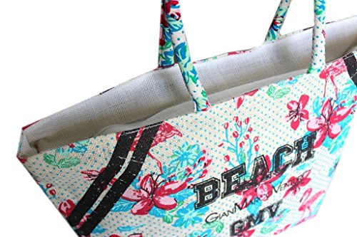 Borsa mare Gian Marco Venturi l.fiori donna moda mare 43425 bianco