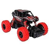 Think Wing Macchinine Giocattolo per Bambini 4WD Monster Truck, ad Alta velocità Gare Fuoristrada, Scala 1:32, 4 Ruote Motrici, Musics e Luce, Camion del Veicoli, Regalo di Natale, Compleanno (Rosso)