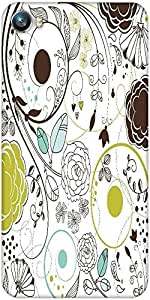 Snoogg retro floral background Designer Protective Back Case Cover For Micromax Canvas Fire 4 A107