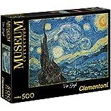 Clementoni 30314 - Puzzle, soggetto: Van Gogh - Notte Stellata, Collezione Museum, 500 pezzi