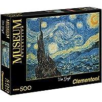 Clementoni 30314 - Puzzle Museum Collection Van Gogh - Notte Stellata, 500 Pezzi