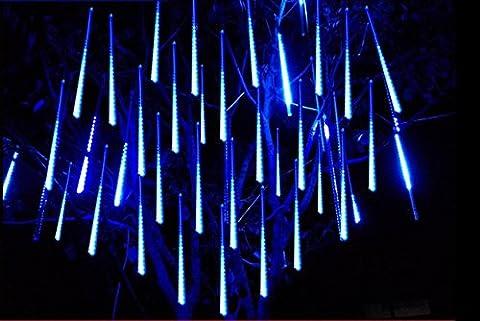 shangge 30cm 10Tube SMD lumière Chutes de neige Meteor de pluie de météores 100–240V Luminaire de décoration guirlande lumineuse pour extérieur jardin Noël Décoration Moderne bleu
